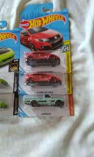 Hot Wheels Honda Type R Red & Datsun 620 Green