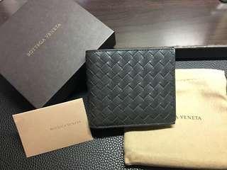 Bottega Veneta BV 男裝銀包 Wallet 灰綠色 100%New 生日禮物 聖誕禮物