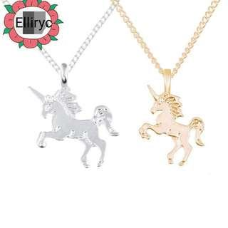 Small Gold/Silver Plated Unicorn Pendant Necklace