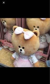 LINE KOREA Choco bear in tutu skirt brand new