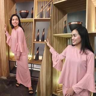 Azara Daily Baju Kurung in rose pink
