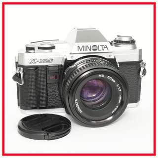 [Exc!] Minolta X-300 35mm Film Camera + MD 50mm F1.7