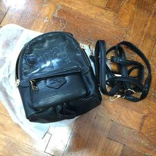 🚚 Black Leather Small Backpack 🎒