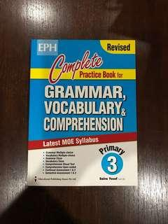 P3 Primary 3 Assessment Book - Revised Copy Of Complete Practice Book For Grammar, Vocabulary & Comprehension (EPH)