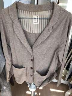 日本SM2 啡杏色短身外套