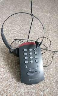 Plantronics T10 single line headset telephone dial key pad full set with headset