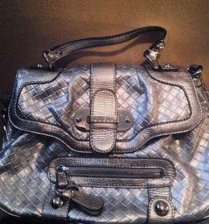 Silver GUESS Bag / Satchel