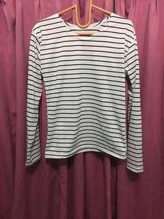 Kaos Stripe White
