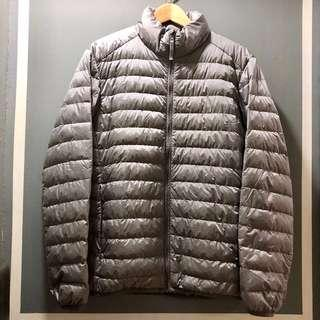 Uniqlo (Size: M) Men Winter Down Feather Jacket (Grey)