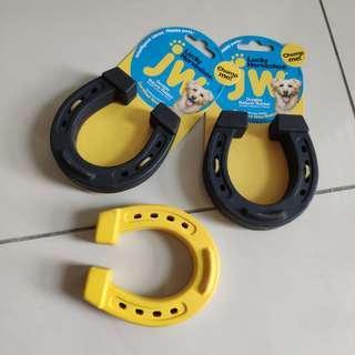 3x Dog Chew Toys Horsehoe