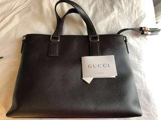 Gucci tote leather bag with bamboo tassel