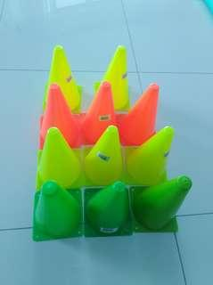 9 inch Bright Funky COLOR Training Cone x 11 pcs