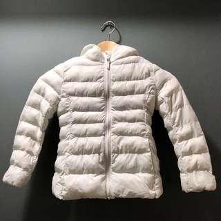 Uniqlo (Size: 110) Kid Winter Down Feather Jacket (White)
