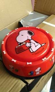 🚚 日本環球 史奴比 糖果盒 狗飼料碗