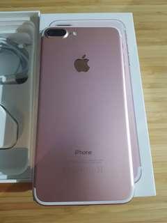 Rose gold 128gb iPhone 7 plus