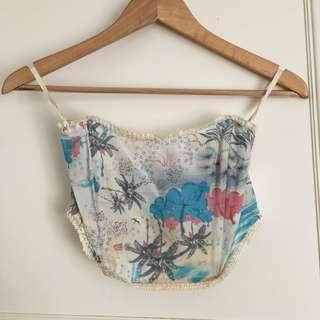 One teaspoon silk crop top