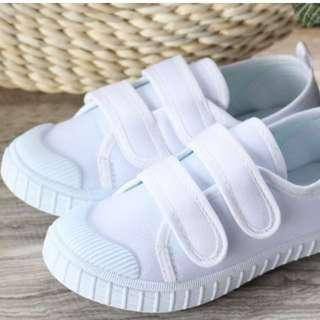 🚚 White Sneakers Canvas Shoes for Girls Boys Children School Student Casual Shoes