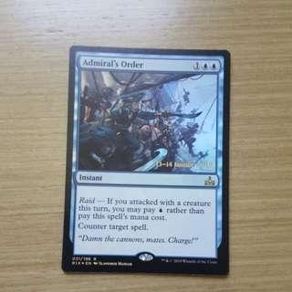 Magic the gathering RIX - Admiral's Order (pre. foil)