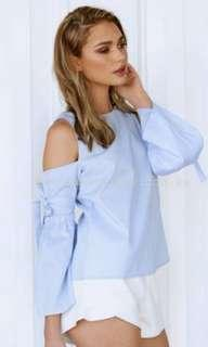 Baby Blue Bow Top