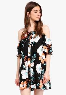 Floral Woven Off The Shoulder Oliver Dress