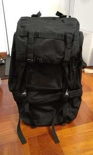 極新純黑軍事背囊 露營 背包客用 backpacker 約60L