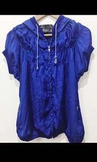 Royal blue parka hoodies