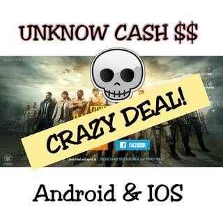 PUBG Mobile Unknow Cash UC TOP UP