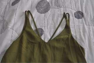 Topshop Army Green Top