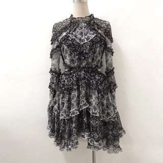 7a172ca84b1 Zimmermann Remake Black   White Multi Divinity Dress Size 0-2 (RRP  1995)