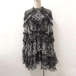 Zimmermann Remake Black / White Multi Divinity Dress Size 0-2 (RRP $1995)🇦🇺