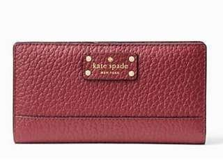 On-hand and ready to ship. BRAND NEW KATE SPADE Bay Street Stacy Leather Wallet