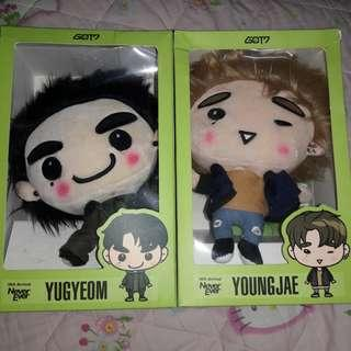 Official GOT7 Gotoon Dolls - Yugyeom & Youngjae