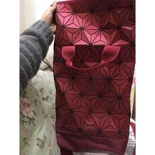 FREE POSTAGE + FREE GIFT!! Adidas 3D Mesh Backpack x Issey Miyake | MAROON LIMITED
