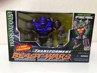 全新 美版 特別 電鍍色 變形金剛 Transformers Beast Wars Transmetals Purple Optimus Primal 紫色 電鍍 猩猩 柯柏文 奧迪姆