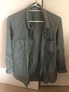 Linen khaki top