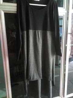 Dress hitam abu