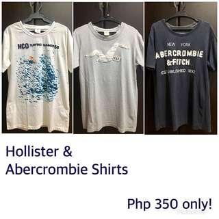 3 Hollister & Abercrombie Shirts