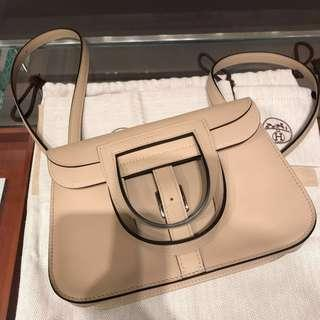Hermes Mini Halzan in Trench color and swift leather