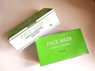50 pieces disposable face mask (ear-loop)
