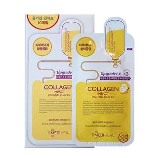 🚚 💕 Instock 💕 Mediheal 💋 Collagen Impact Essential Mask Ex. (10 Sheets / Box) 💋