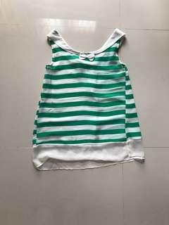 Green Sailor Top