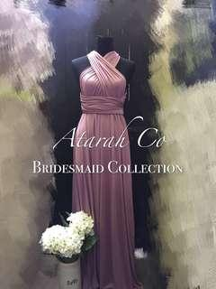 Bridesmaid Multiway infinity convertible dress