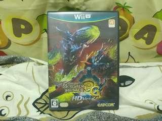中古 日版 Wii U Monster Hunter tri 3G HDver.