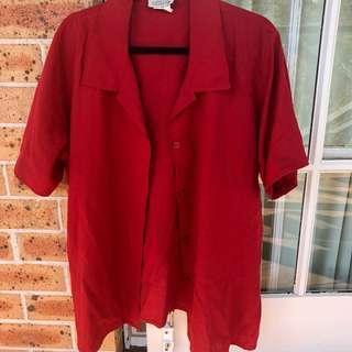 Vintage oversized linen top