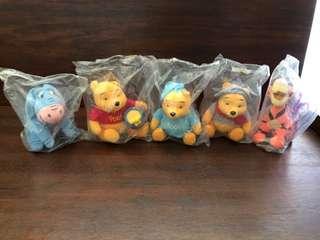 麥當勞Winnie the Pooh 一套公仔全新未開封