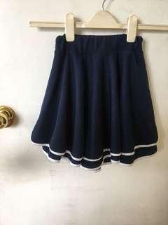 Navy Blue 2-layer round skirt