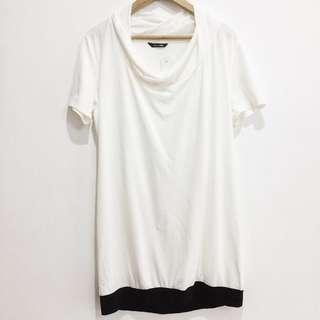 Piccini vanilla/Black Shirt dress