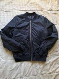 DOTTI Navy Blue Padded Bomber Jacket