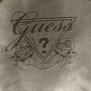 Sublime Guess black canvas bag with leather trimmings