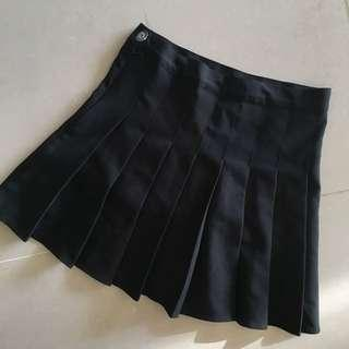 含郵/黑色 韓版 高腰百摺裙